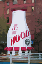 Hood Milk Bottle - Boston, MA